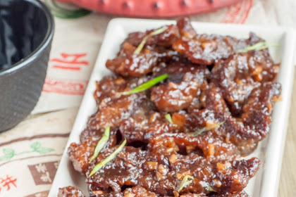 Crispy and Sticky Mongolian Beef