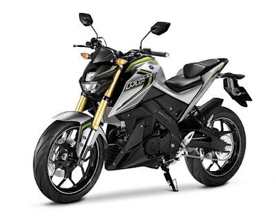 Yamaha M-SLAZ 150 naked street motorcycle.