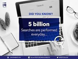 5 billion searches worldwide per day.