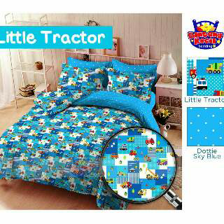 Sprei Motif Anak Little Tractor bahan cotton
