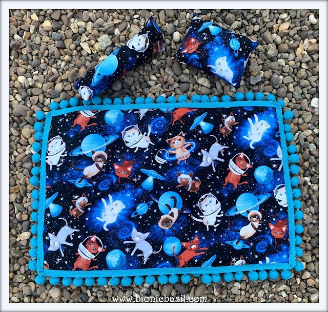 Mandalas on Monday ©BionicBasil® Colouring With Cats Mandala #99 Snuggle Mat and Toys