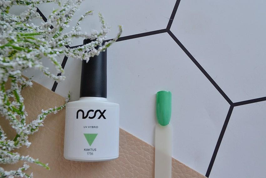 nox nails lakier hybrydowy jasna zieleń