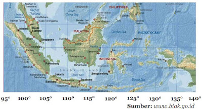 Garis bujur Negara  Indonesia