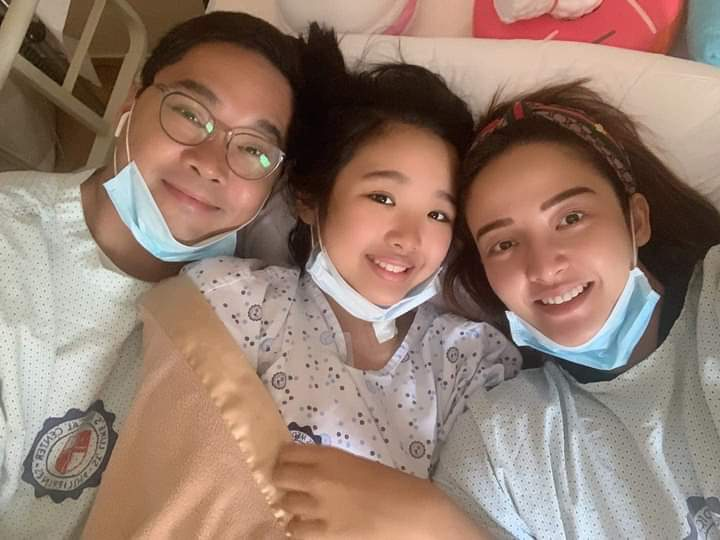Anthony Taberna cries while watching daughter with leukemia