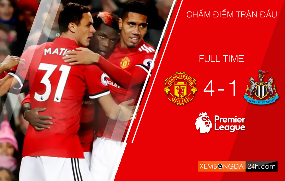 Chấm điểm trận Manchester United 4-1 Newcastle United
