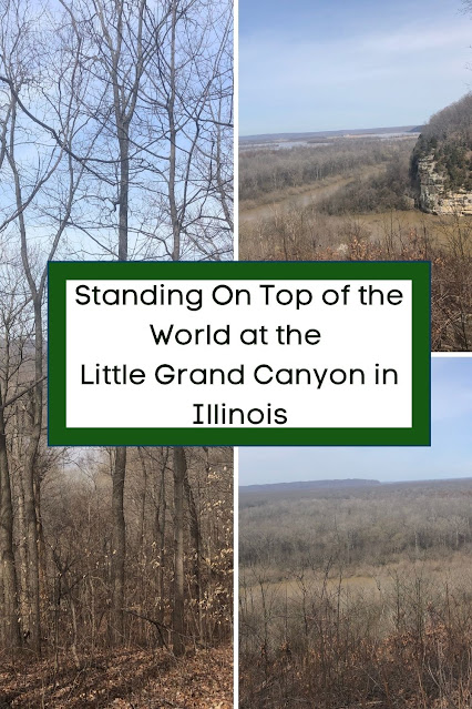 Standing On Top of the World at the Little Grand Canyon in Illinois
