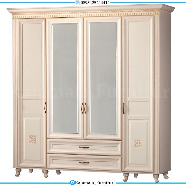 Lemari Baju Pintu 4 Minimalis Modern Design Furniture Jepara RM-0300