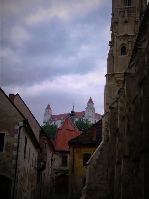 Zamek Bratysławski, uliczki staromiejskie