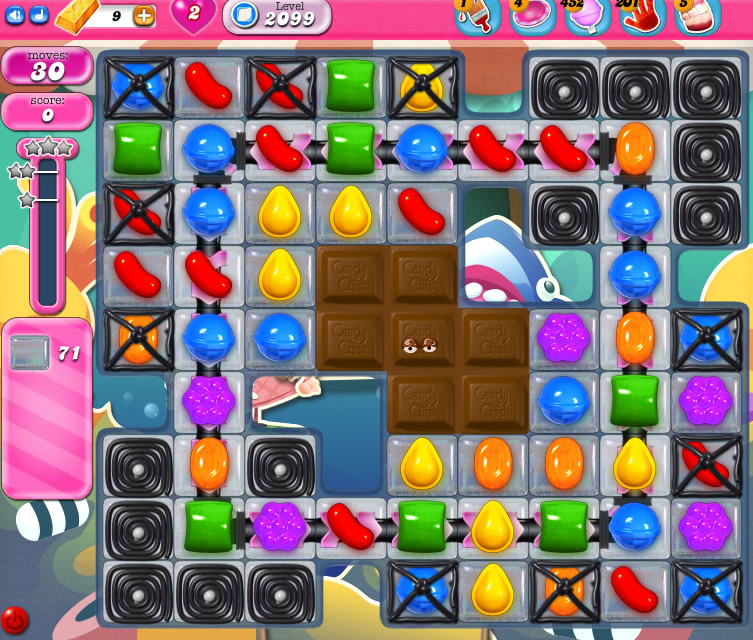 Candy Crush Saga level 2099