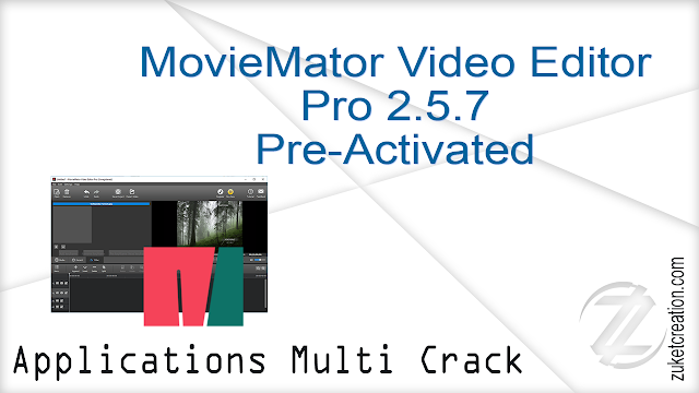 MovieMator Video Editor Pro 2.5.7 Pre-Activated     |   143 MB