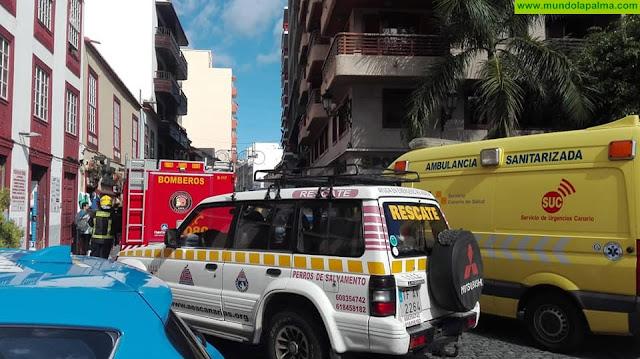Se produce un incendio en una vivienda de Santa Cruz de La Palma