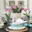 Creating Spring Tablescapes on a dime