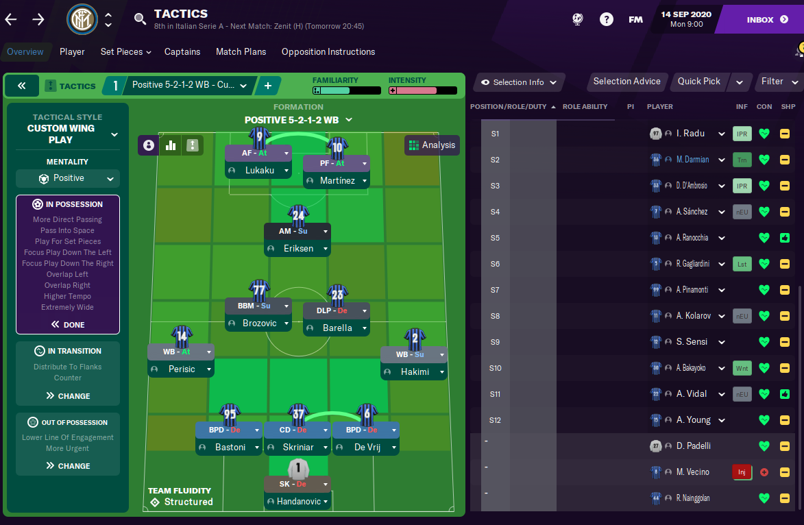 Inter Tactic - Formation - Football Manager 2021 - FM21