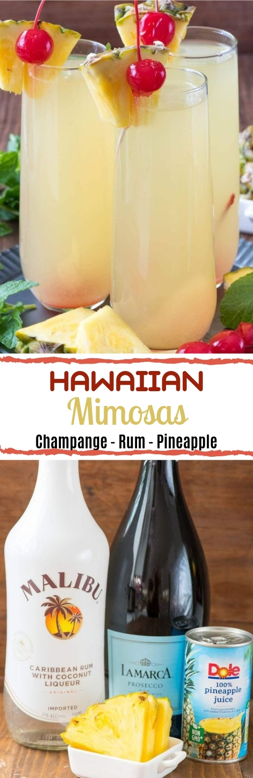 Hawaiian Mimosas #summer #drinks