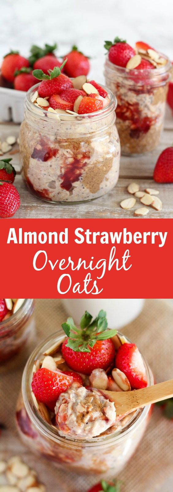 ALMOND STRAWBERRY OVERNIGHT OATS