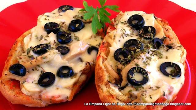 Paninis de bonito champiñones y queso