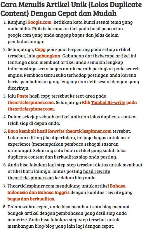 cara bikin artikel online