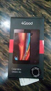 Смартфон 4Good S450m 4G. Упаковка.