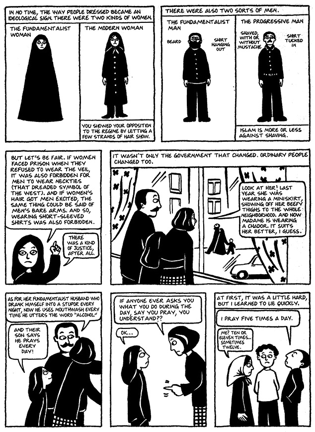 Read Chapter 10 - The Trip, page 73, from Marjane Satrapi's Persepolis 1 - The Story of a Childhood