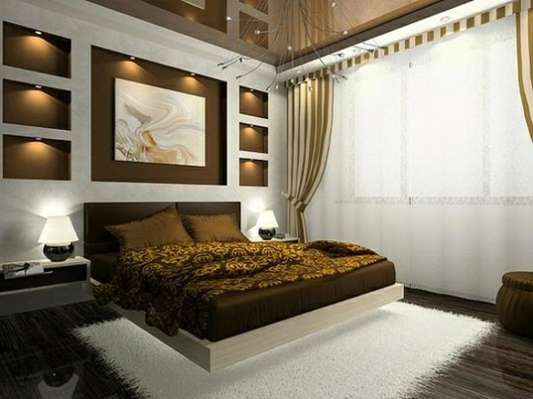 Wandgestaltung Schlafzimmer Grün Braun   Schöne Küche Design, Wohnzimmer  Design