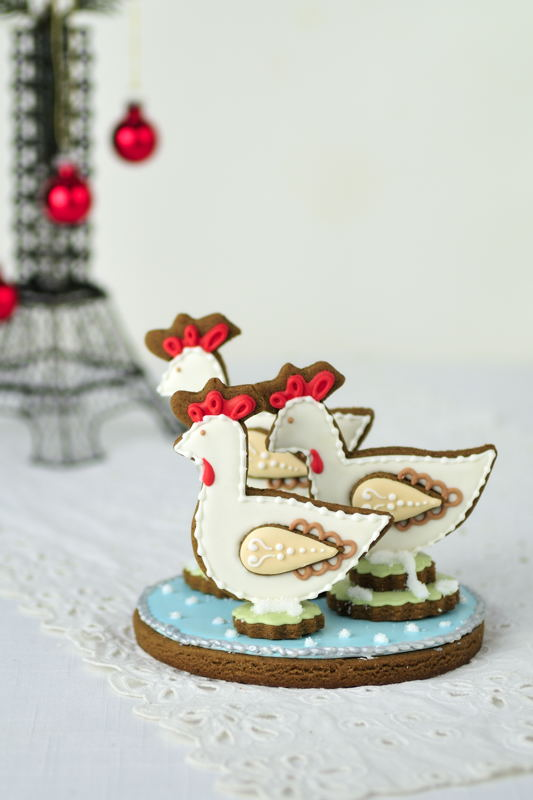 The Twelve Days Of Christmas Cookie Project Three French Hens The