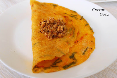 indian breakfast dosa healthy carrot pureed dosa with detailed pics