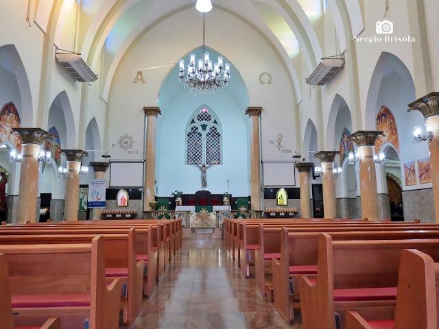 Vista do interior da Igreja Santo Expedito - Luz - São Paulo