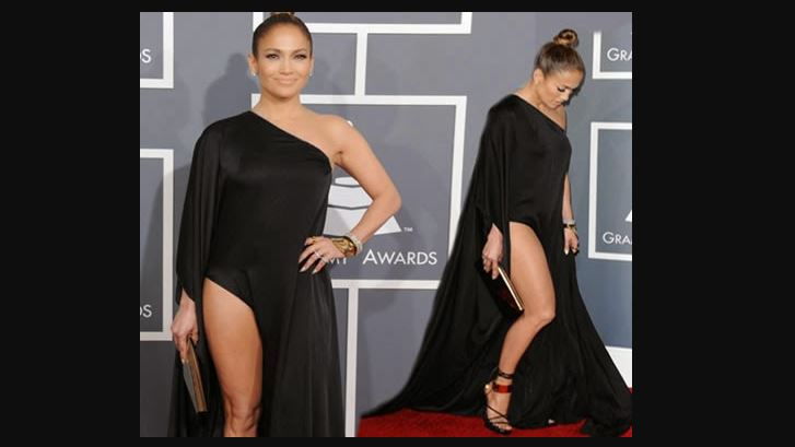 jlo black grammy dress