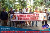 Puluhan Warga Jember Gelar Aksi  Menolak Penambangan Tanah Liat