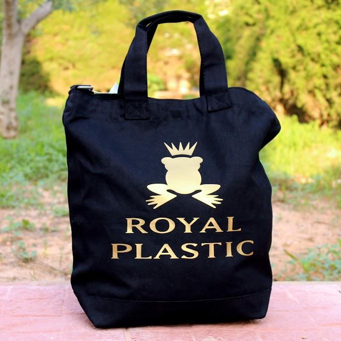Royal Plastic Shopper Bag Black