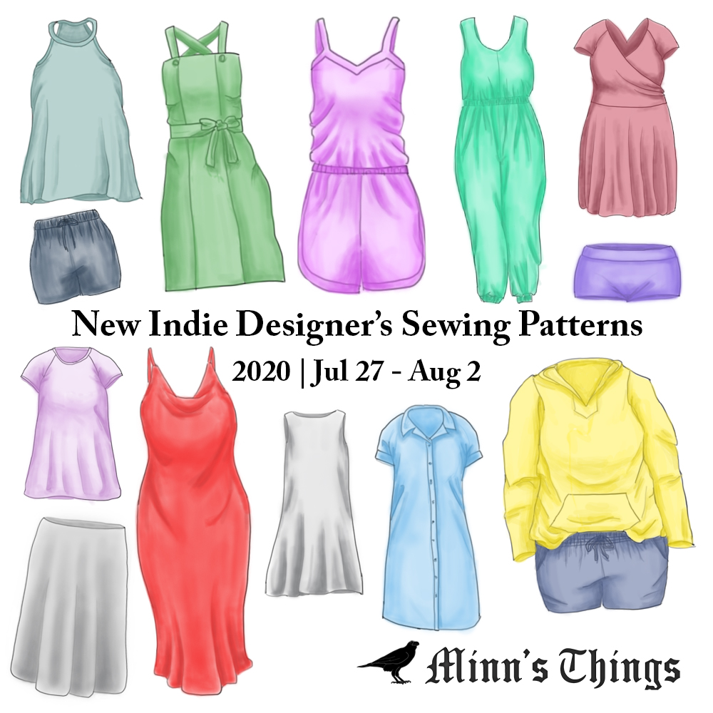 New Indie Designer's Sewing Patterns & Updates 2020 July 27 August 2