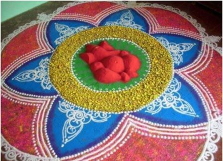 Ganesh rangoli photo