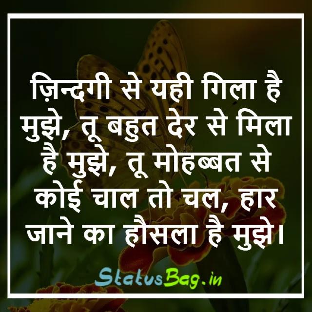 Top Pyar Mohabbat Shayari Status Hindi
