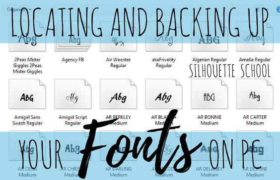 silhouette 101, silhouette america blog, backing up fonts, silhouette fonts, silhouette font