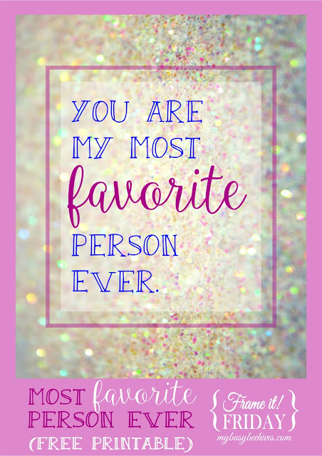 Most favorite printable