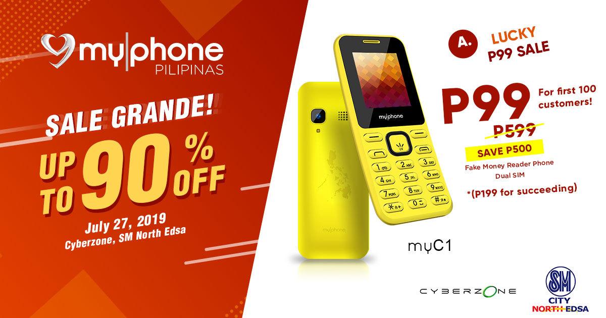 MyPhone SM Cyberzone Partnership Sale, MyPhone myC1