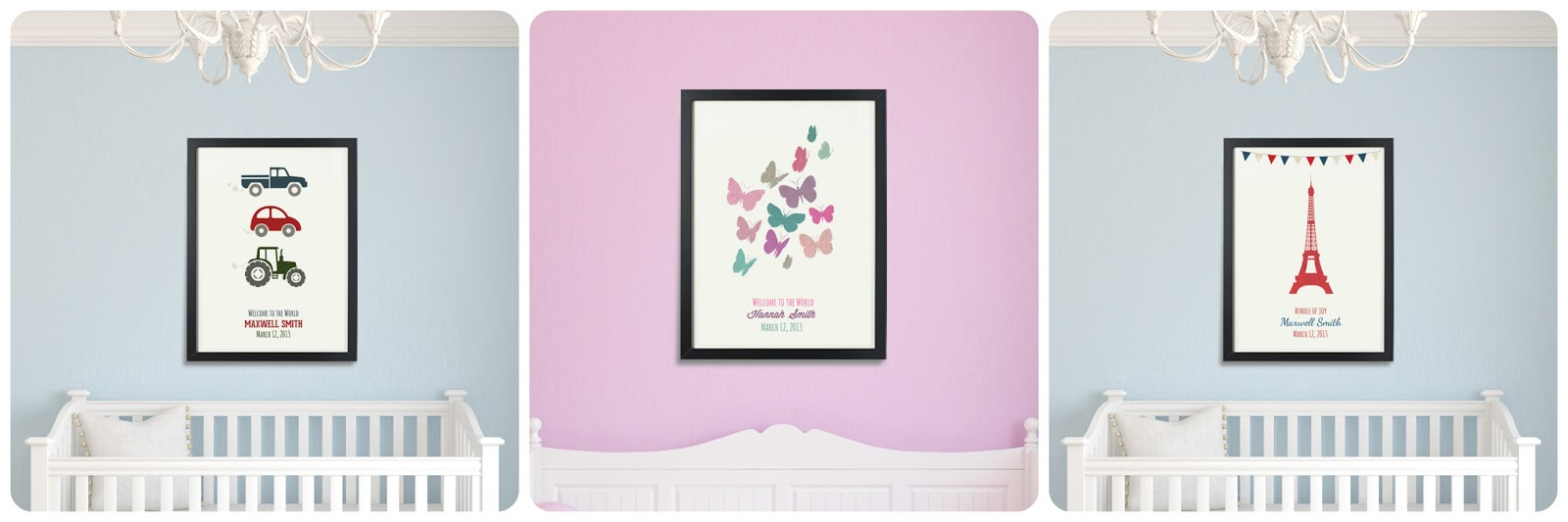 Vertbaudet Personalised Posters For A Baby Nursery