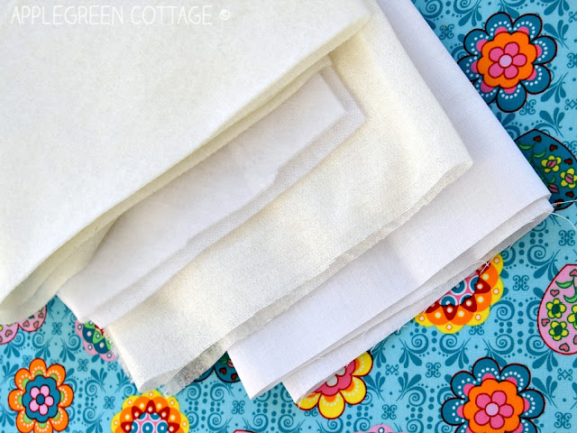 how to use interfacing: beginner sewing tips by AppleGreen Cottage