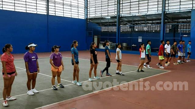 Hari Ketiga National Junior Tennis Camp - Indonesia 2020: Peserta Mendapatkan Materi Perbedaan Speed dan Spin