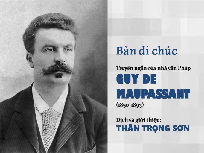 Tập Truyện Ngắn: Tình yêu (Amour) - Guy de Maupassant (1850-1893) Slide1