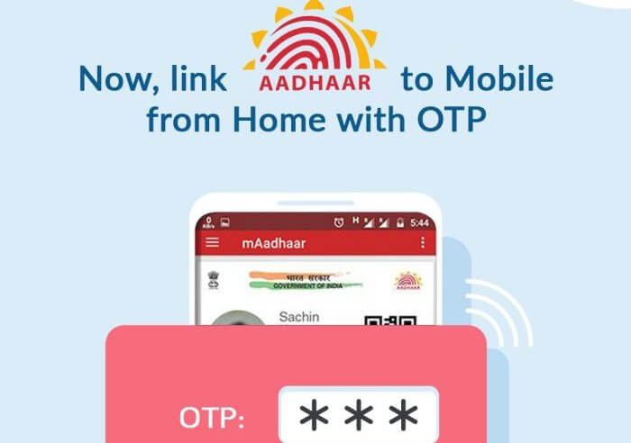 Link Aadhaar with Mobile number, using IVR and OTP