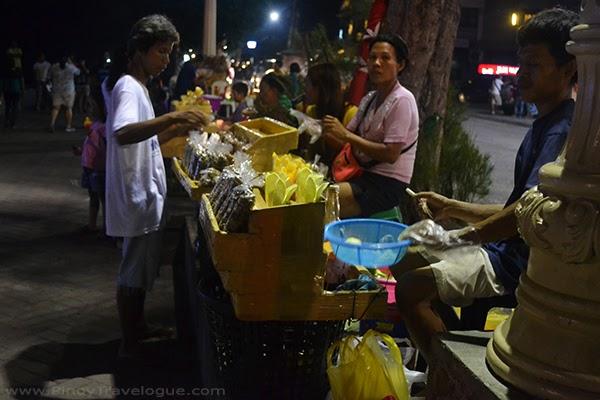 Food stalls selling street foods