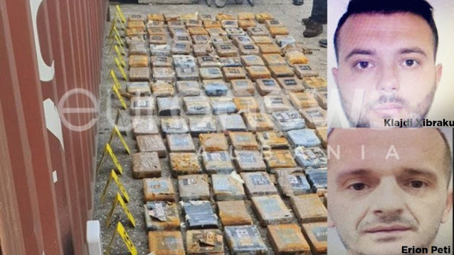 141 kg of cocaine sequestered in Durrës Port, Klajdi Xibraku and Erion Peti arrested