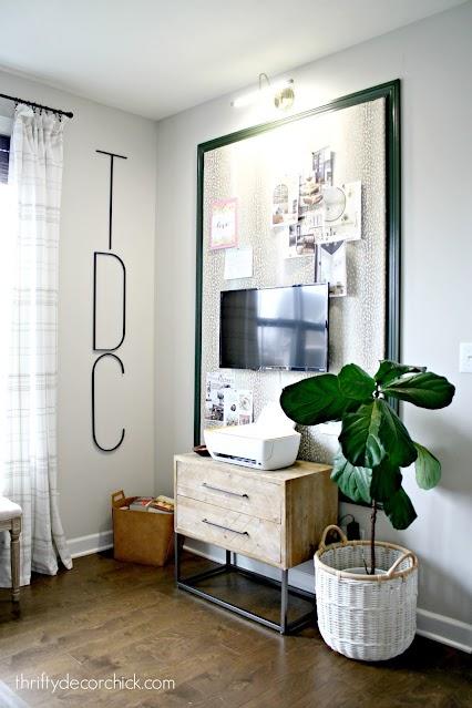 huge DIY upholstered bulletin board