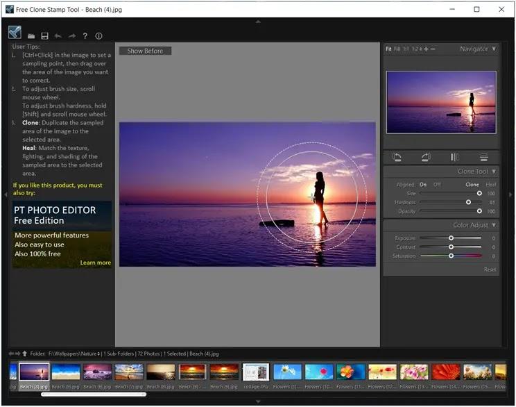 Free Clone Stamp Tool  : Αφαιρέστε περιττά  αντικείμενα από τις φωτογραφίες σας