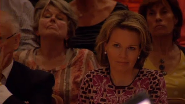 Queen Mathilde of Belgium is present at various concerts of the semi finals at Flagey on May 11, 2015 in Brussels