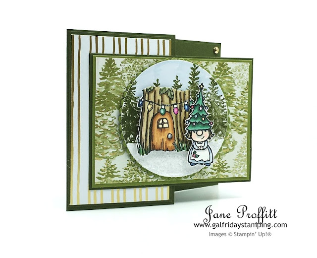 Christmas in July using the whimsical and adorable Gnome for Christmas that will be available Aug. 4th in the new Mini Holiday Catalog.