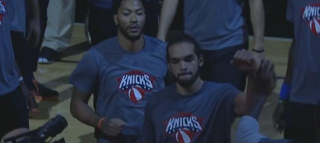 Crowd Reacts to Derrick Rose and Joakim Noah's Return | Knicks vs Bulls (VIDEO)