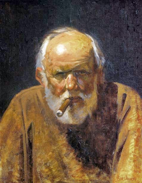 Thomas S. Buechner, Self Portrait, Portraits of Painters, Fine arts, Painter Herbert Badham Thomas S. Buechner