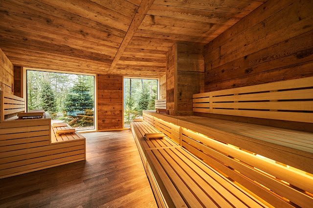 nordic sauna at aqua sana sherwood forest center paris